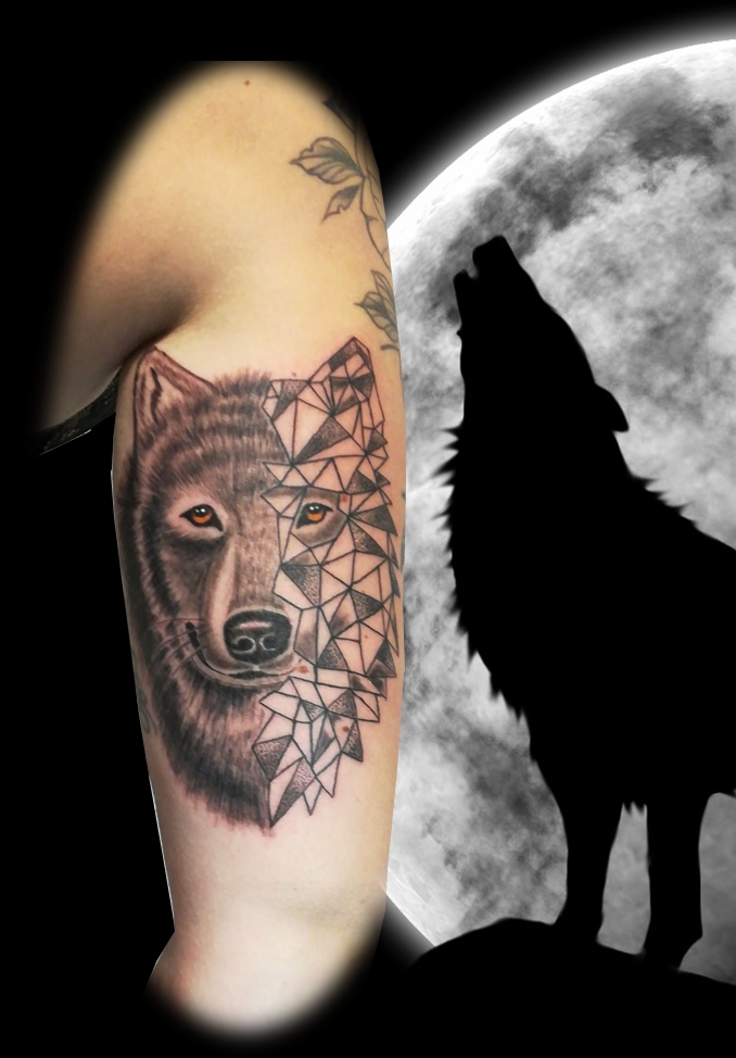 Tatouage Loup Graphique Graphic Wolf Tattoo France 40 New